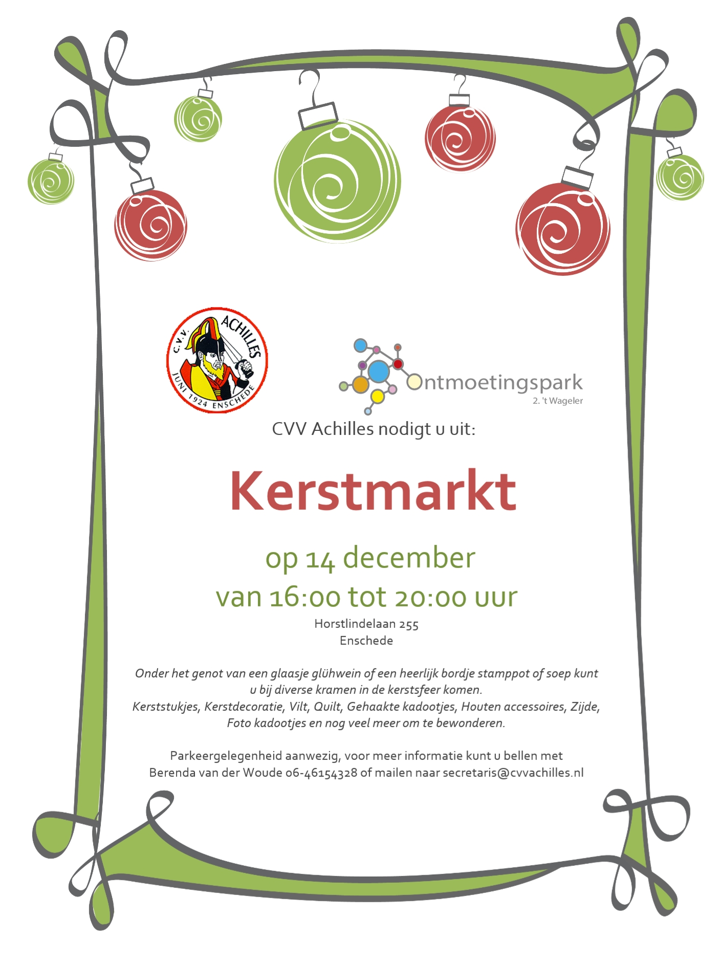 Kerstmarkt 14 December